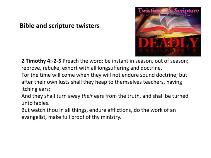 Bible and scripture twisters