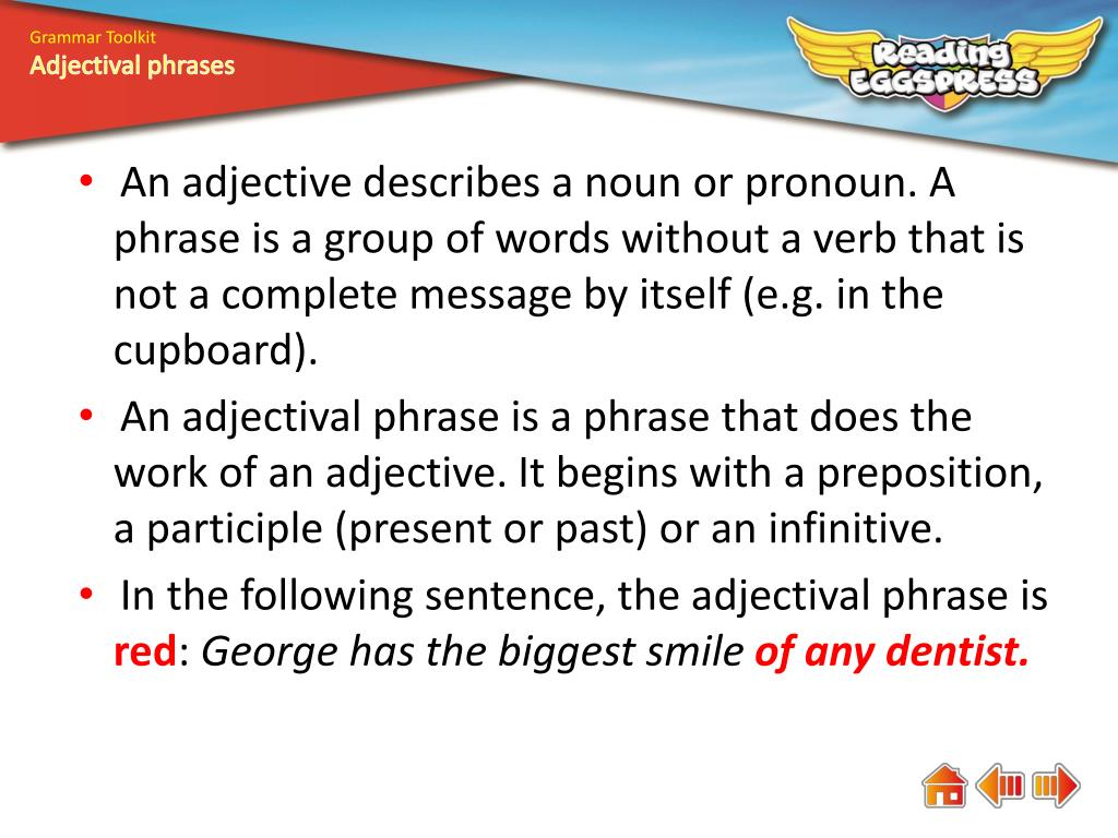PPT - What is an adjectival phrase? PowerPoint Presentation