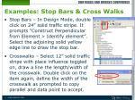 examples stop bars cross walks