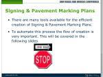 signing pavement marking plans