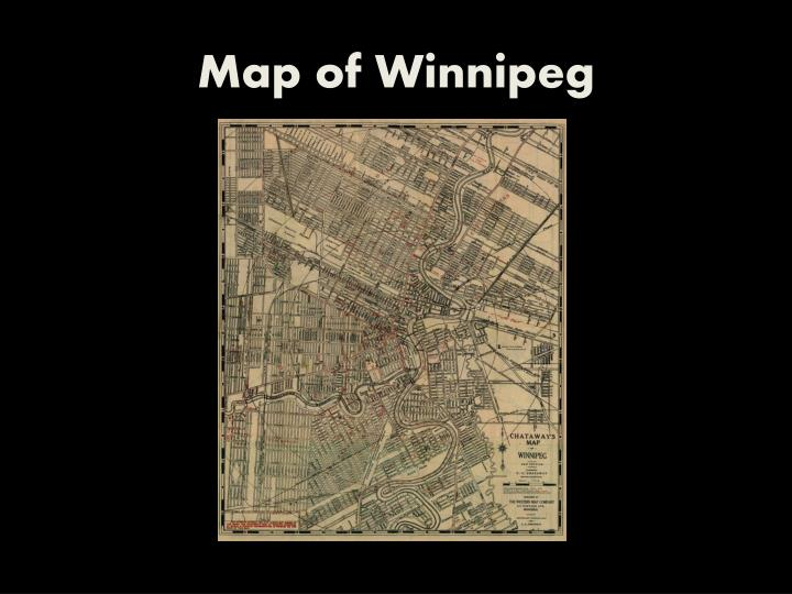Map of Winnipeg