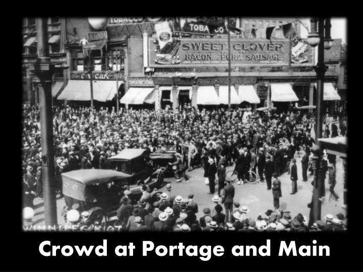 Crowd at Portage and Main