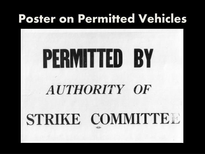 Poster on Permitted Vehicles