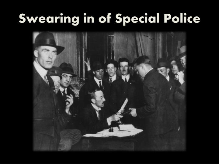 Swearing in of Special Police