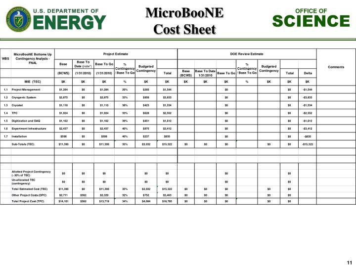 MicroBooNE