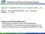 creating and writing compound dataset1