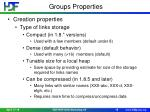 groups properties