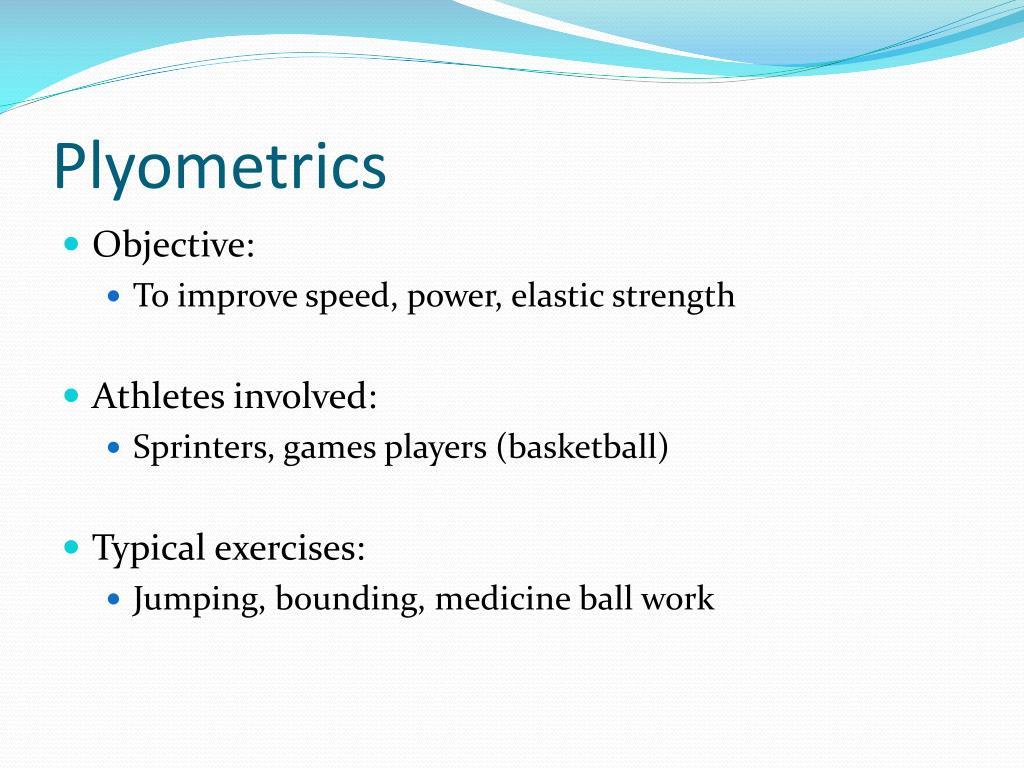 PPT - Plyometrics and PNF Training PowerPoint Presentation