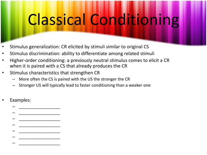 Classical conditioning1