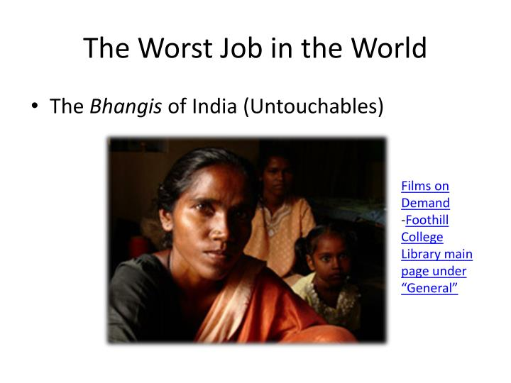 The worst job in the world