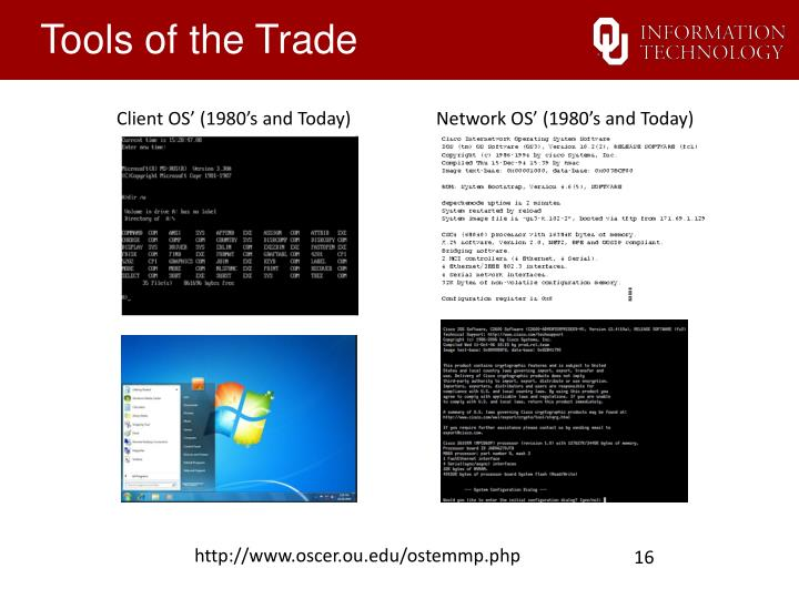 Client OS' (1980's and Today)