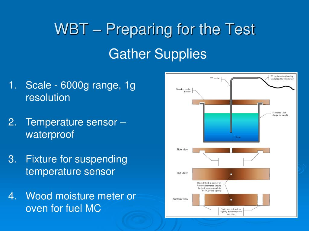 PPT - The Water Boiling Test (WBT ) with ISO/IWA Metrics and