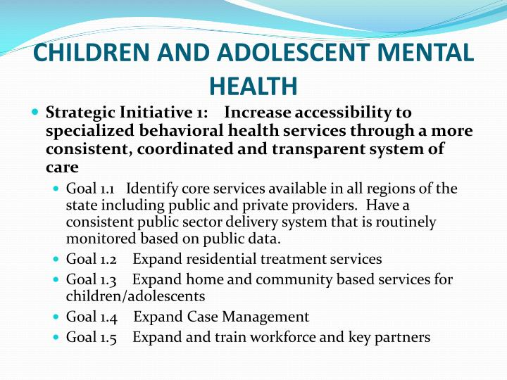 adolescent mental and behavioral health The adolescent and child outpatient program at denver health helps children between the ages of 2-17 years on a wide variety of behavioral and emotional disorders, ranging from adjustment issues to major mental illnesses.