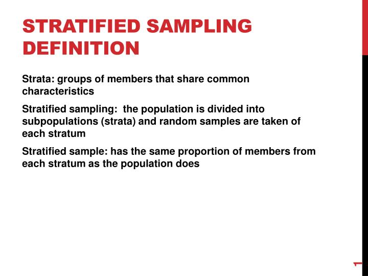Ppt Stratified Sampling Definition Powerpoint Presentation Id
