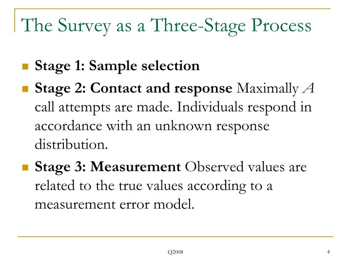 The Survey as a Three-Stage Process