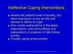 ineffective coping interventions