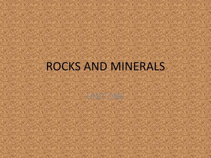 rocks and minerals n.