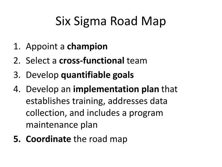 Six Sigma Road Map