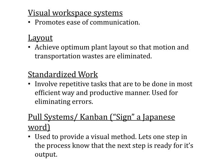 Visual workspace