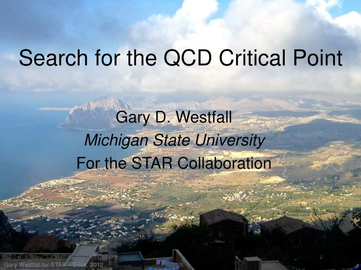 search for the qcd critical point n.
