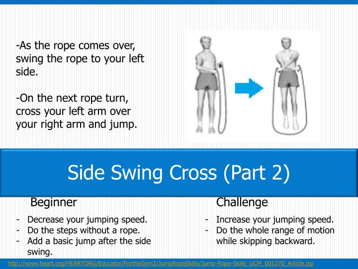 -As the rope comes over, swing the rope to your left side.