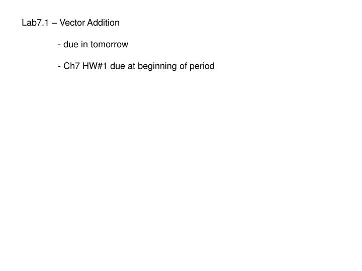 Lab7.1 – Vector Addition