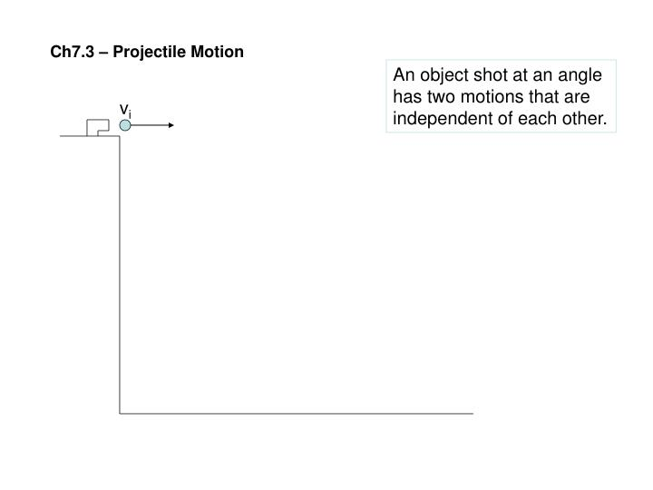 Ch7.3 – Projectile Motion
