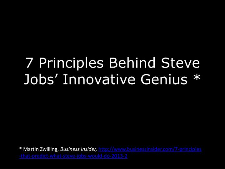 7 principles behind steve jobs innovative genius n.