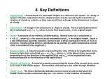 4 key definitions