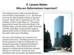5 lesson notes why are deformations important