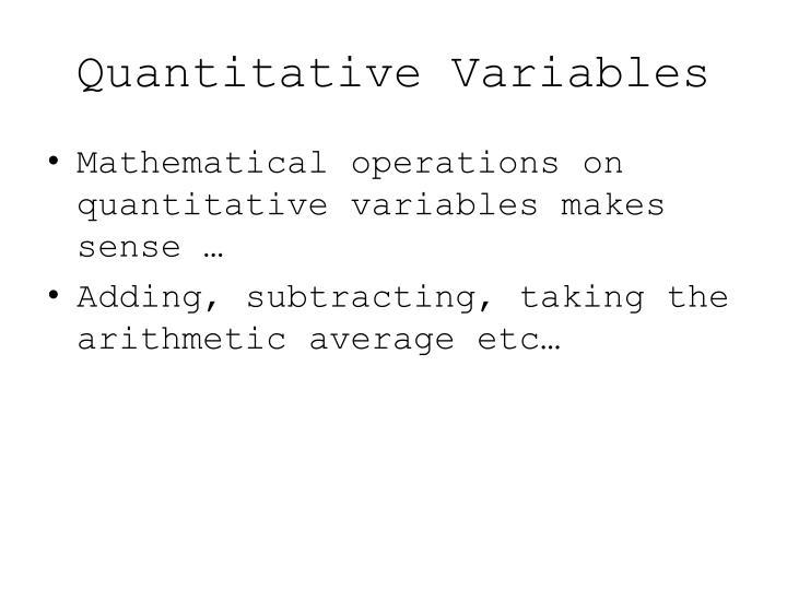 Quantitative variables1