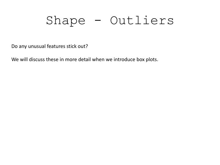 Shape - Outliers