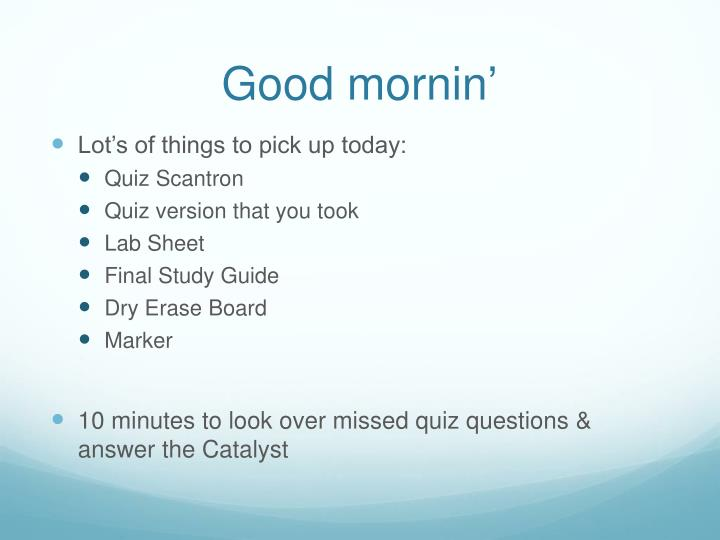 study guide from quiz 16
