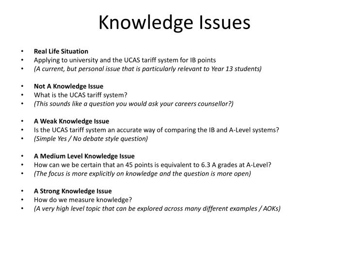 Knowledge Issues