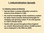 i industrialization spreads