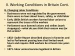 ii working conditions in britain cont