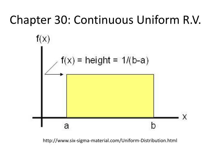 Chapter 30 continuous uniform r v