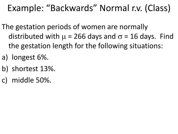 "Example: ""Backwards"" Normal"