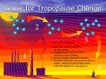 cause for tropopause change