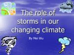 the role of storms in our changing climate