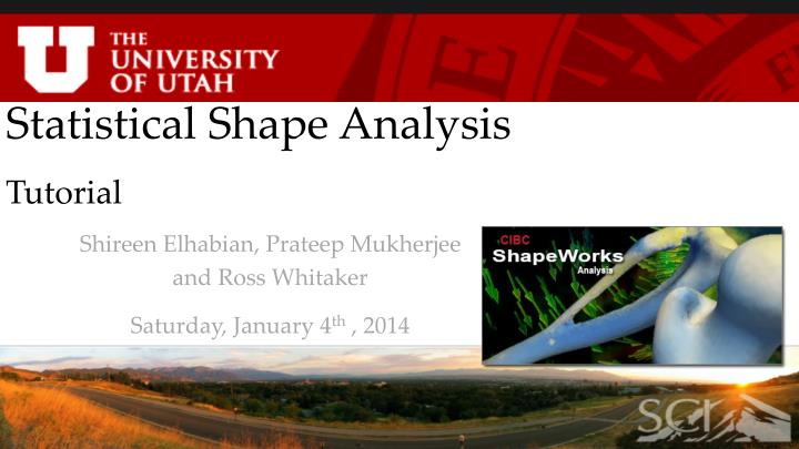 PPT - Statistical Shape Analysis Tutorial PowerPoint