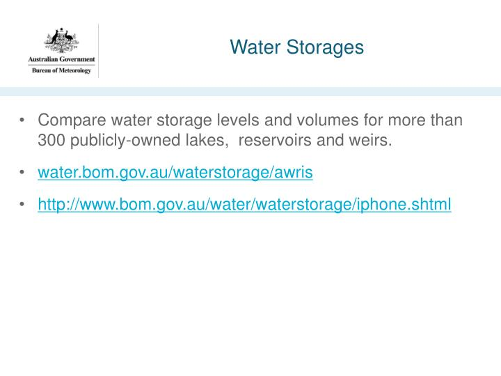 Water Storages  sc 1 st  SlideServe & PPT - BoM data and visualisation assets PowerPoint Presentation - ID ...