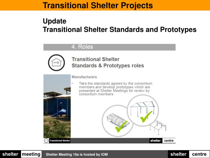 Transitional Shelter Projects