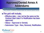 approved denied annex a addendums1