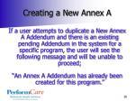 creating a new annex a1