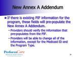 new annex a addendum
