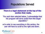 populations served1