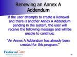 renewing an annex a addendum1