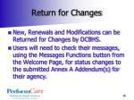 return for changes