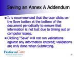 saving an annex a addendum